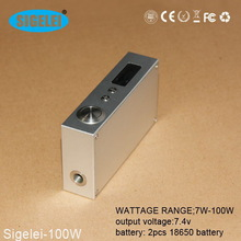 2014 ecig Hot sale !!! Sex Products Properties wholesale e cigarette distributors sigelei-100 w variable watt mod sigelei 100w