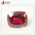10 X 12 MM 5 # perfeito quadrado de corte de corudum vermelho melhor solta rubi sintético preço por quilate