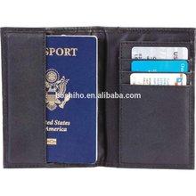 Boshiho travel document organizer Embassy Black Leather Passport Holder/Wallet