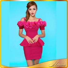 New Product Fabric Flowers For Wedding Dresses 2015 Women Summer Mini Slash Neck Patchwork Spaghetti Strap Korea Used Clothing