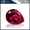 top grade pear cut lab created loose ruby gemstone