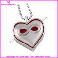Ijd8325 rojo del símbolo del infinito del corazón del acero inoxidable urna del animal doméstico de la joyería, De cremación para mascotas, Memorial ceniza colgante