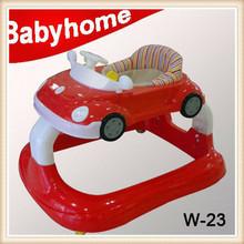 EN1273 certificate simple height adjustable baby walker and no turn on baby's side