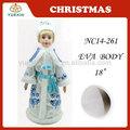 18 pulgadas del árbol de navidad decoración de la parte superior, princesa de navidad estatuilla