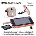 """Gsm numérique de porte judas spectateur avec 5"""" écran tactile/mms alarme/mobile, d'interphonie./enregistrer des photos et vidéo caméra ip"""