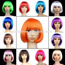 Hot sale cheap short purple bob synthetic wigs