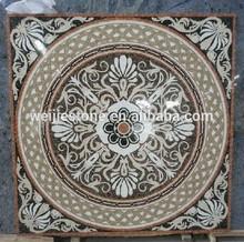 Luxury restaurant floor and wall use tile mosaic medallion