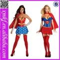 de dibujos animados de spiderman cosplay magia de súper héroes traje de superman de la mujer