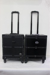 Croco PVC Aluminum makeup cases