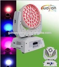 hot sell 36pcs 15w 6in1 rgbwauv wash led moving head light zoom professional DJ disco wedding even show wash lighting equipment