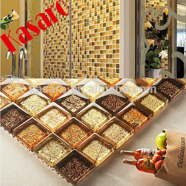 Bagno mosaico marrone oro [Tibonia.net]