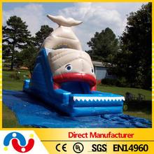 Lovely green turtle slide dolphins inflatable slide animal inflatable water slide for kids
