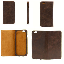 "Wholesale cheap 4.7"" and 5.5"" screen genuine leather customize cell phone cases"