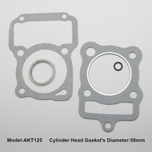 factory supply motorcycle cylinder top gasket for AKT 125
