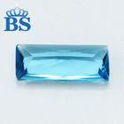 The most popular sky blue Rectangle shape princess cut Glass stone