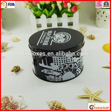 hot sale round food storage tin can sale