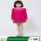 High quality red flower lace cotton fashion dress for girl 13 year old