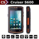 Cruiser S600 Dual Core 3500mah battery waterproof/NFC/PTT/IP67 4inch screen 512MB+4GB 5mp camera satellite gps mobile phone