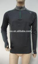 merino wool Zip Top long sleeve men's underwear / sportswear