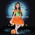 baratos moda princesa de abóbora de halloween traje meninas