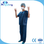 Disposable medical nonwoven surgical gown/dark blue patient gown