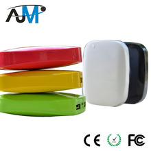 ABS Small Mini Size Power bank Battery Charger 6000mah With Dual USB Output