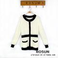 moda material blando mantener el calor de la mujer chaqueta suéter con cierre de cremallera