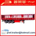 Precio atractivo 3 eje de carga a granel semi remolque / de almacén de la barra semi remolque / caja fuerte de camiones de remolque para el ganado de transporte gratuito