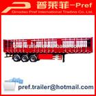 Attractive price 3 axle bulk cargo semi trailer/store house bar semi trailer/strong box truck trailer for cattle transportation