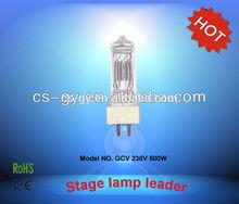 China wholesale 230V 500W ceramic base halogen lamps GY9.5 GCV