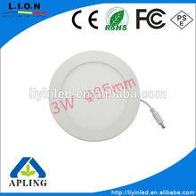 square round option 3W slim led panel light,CE,ROHS,led ceiling light SMD2835