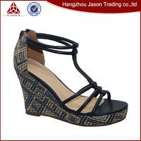 Pointed toe fashion national navy diamond lady sandal 2014