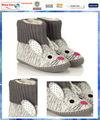 conejito de punto de la plataforma zapatos botas con 3d las orejas