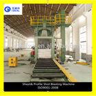 H Beam Steel Metal Shot Blasing Descaling Cleaning Machine
