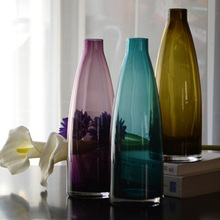 colored glass vase home deco