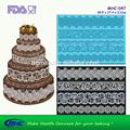 Y de la boda pastel de cumpleaños de la decoración de la torta del molde, cordón de silicona moldes