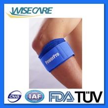 Blue neoprene tennis elbow support