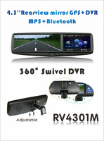 4.3inch car rearview mirror with GPS DVR MP5 Bluetooth