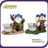 happy santa&snowman figurine resin christmas decoration