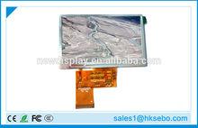 5 inch 800x480 tft LCD module high brightness LCD 1000 nits