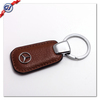 Metal Benz logo Leather keychain/Custom leather keychain manufacturer