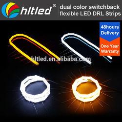 Flexible Universal 12V Dual Color DRL LED Daytime Running LED Lights
