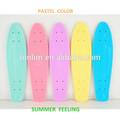 Novo peixe skate 22 polegadas& 23 polegadas oem da alta qualidade por atacado penny skates com pastel colord
