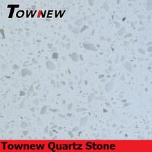 Classic white color sparkling non-radiative quartz stone without mirror