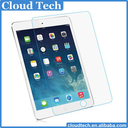 factory wholesales 9h anti-shatter clear gold tempered glass screen protector for ipad mini