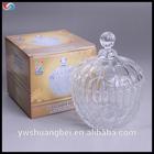 decorative glass candy jar/tea jar with lid