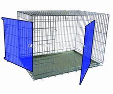 sliver safty fold wire steel travel flat carrier pet cage dog crates