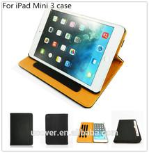 Flip style pu leather case cover For ipad mini 3