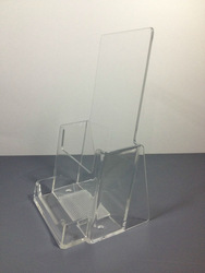 Clear Acrylic Brochure Holder with Holder Business Card