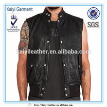 2015 Brand name designer sleeveless mens biker vest